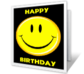 A Happy Face Birthday greeting card