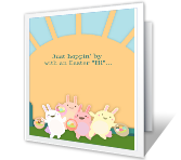A Hoppy Wish printable card