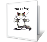 A Hug for You printable card