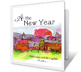 A New Year Wish printable card