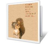 A Nutty Birthday printable card