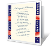 A Prayer for Veterans printable card