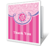A Princess Thank You printable card