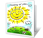 A Smile to My Face greeting card