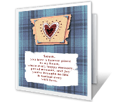 A Son Forever greeting card
