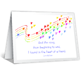 A Song in Your Heart printable card