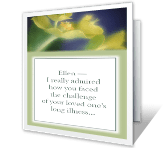 After Long Illness greeting card