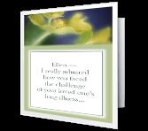 After Long Illness greeting card
