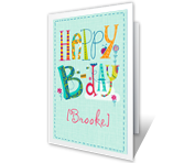 B-Day Wishes printable card