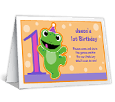 Baby Boy's 1st Birthday printable card