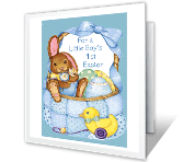 Baby Boy's 1st Easter printable card