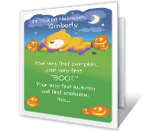 Baby's First Halloween printable card