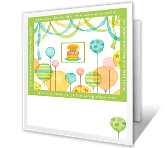 Balloon Birthday printable card