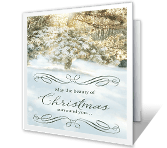 Beauty of Christmas greeting card