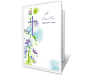 Because of Him printable card