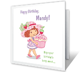 Berry Sweet Birthday printable card
