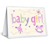 Best Wishes on Your Baby Girl greeting card