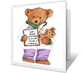 Big Bear Hug printable card