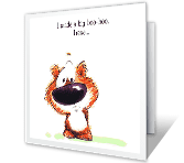 Big Boo-boo greeting card
