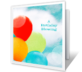 Birthday Blessing printable card