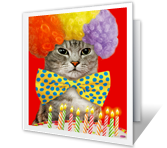 Birthday Cat-ittude printable card