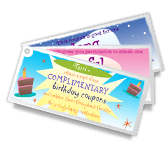 Birthday Coupons printable card