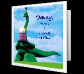 Birthday Dinosaur invitation