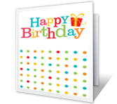 Birthday Dots printable card