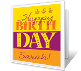 Birthday Fun printable card