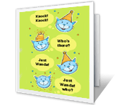 Birthday Knock-Knock printable card