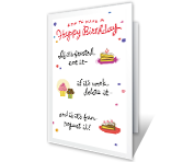 Birthday Rules printable card
