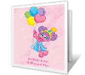 Birthday Wishes printable card