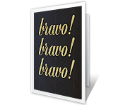 Bravo! greeting card