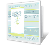 Bridal Bliss printable card