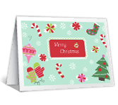 Candy Cane Wishes printable card
