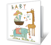Celebrate Baby printable card