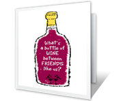 Cheers to Friends printable card