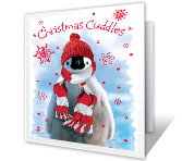 Christmas Cuddles printable card