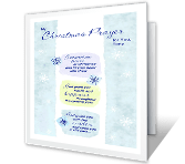 Christmas Prayer printable card