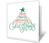 Christmas Wish printable card