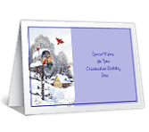 Christmastime Birthday greeting card