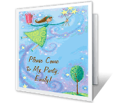 Come to My Party printable card