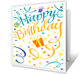 Confetti Birthday printable card