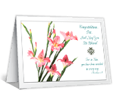 Congrats and God Bless greeting card