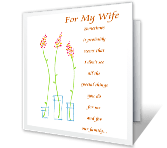 Couldn't Ask for a Better Wife printable card