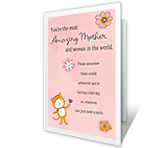 Crazy Good Mom printable card
