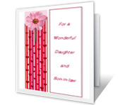 Daughter and Son-in-law printable card