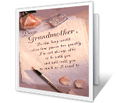Dear Grandmother... printable card