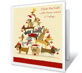 Deck the Halls printable card