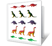 Dino-mite Birthday printable card